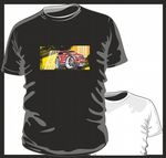 KOOLART TYRE TRAX 4x4 Design for Range Rover Evoque mens or ladyfit t-shirt